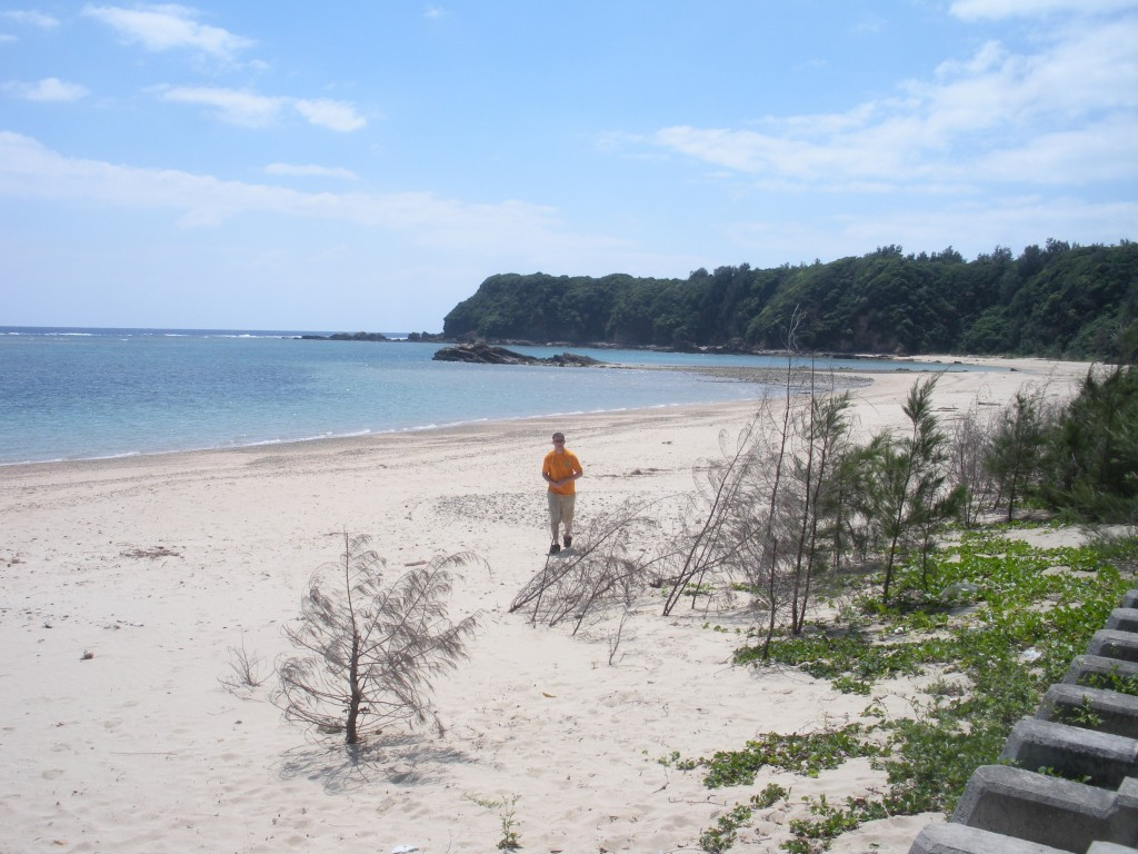 Some beach on the Eastern coast of Okinawa, around Kin.